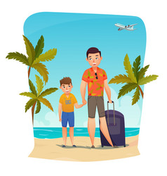 Summer holiday composition vector