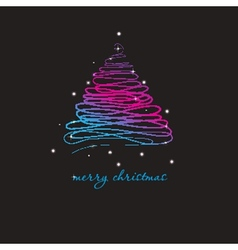 Christmas background with christmas tree vector