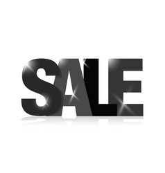 Black sale sign vector