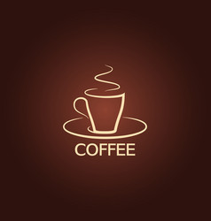 coffee cup logo design background vector image
