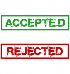 Rejected and accepted stamps vector