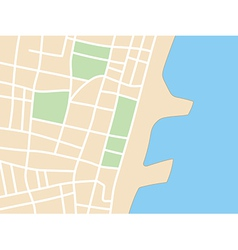 Plan of city with coast vector