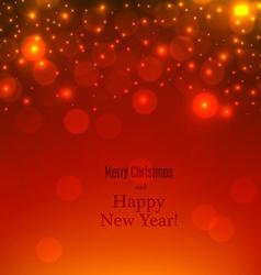 Red defocused christmas background vector image