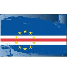 Cape verde national flag vector