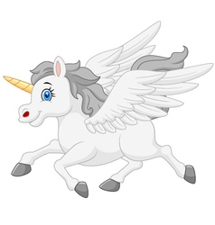 Cute running unicorn vector