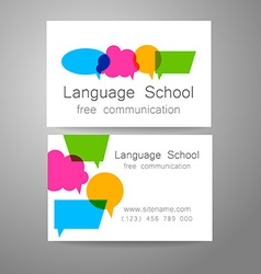 Language school logo vector