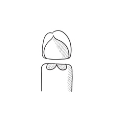 Business woman sketch icon vector image