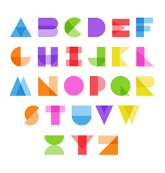 abstract alphabet in color vector image vector image