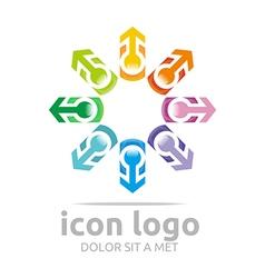 Arrow star design symbol abstract logo vector