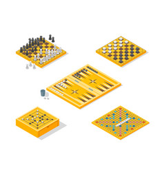 Board games icons set isometric view vector