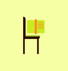 Book and chair vector