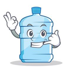 Call me gallon character cartoon style vector