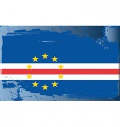 Cape verde national flag vector
