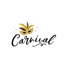 Carnival banner with golden chic party elements vector