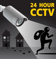 CCTV Security Camera capture robber man Il vector image
