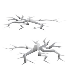 Cracked white ground vector image