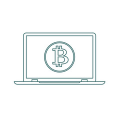 cryptocurrency technology stock flat vector image