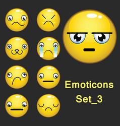 Emoticons set 3 vector