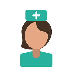 Female nurse avatar icon image vector