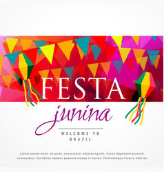 festa junina carnival background design vector image vector image