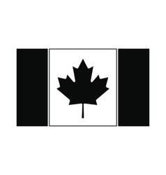 Flag of Canada icon simple style vector image vector image