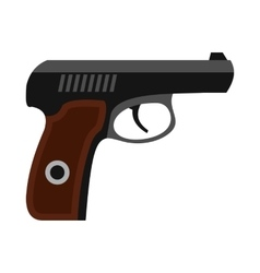 Gun icon in flat style vector image