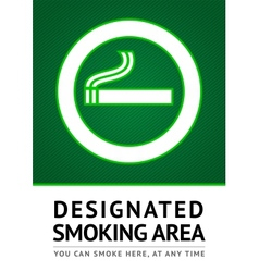 Label smoking place sticker vector image