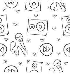 Music theme doodle style collection vector