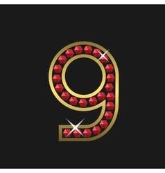 Number nine symbol vector