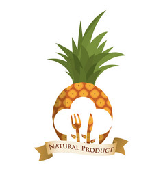 Pineapple diet food natural product vector