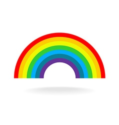 Rainbow symbol Seven flat colors Isolated on a vector image