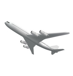 Realistic flying plane back view high detailed vector