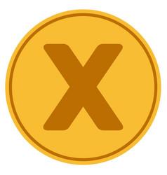 roman ten gold coin vector image