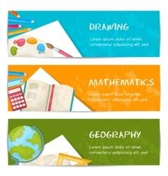School Banner Set vector image