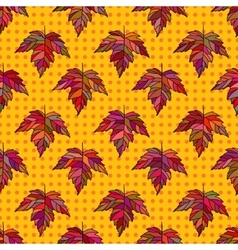 Autumn seamless leaf pattern 9 vector image