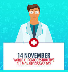 14 november world chronic obstructive pulmonary vector