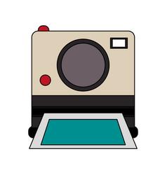 Color image instant photo camera vector