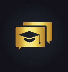 Graduation hat education gold logo vector