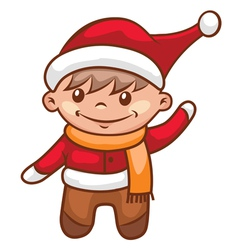 little santa boy vector image