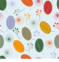 Seamless pattern with leaf vector