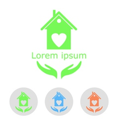 Concept of a cozy home with sample text and icons vector