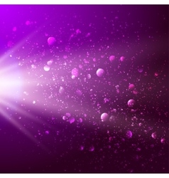 Abstract background with light and bokeh vector image vector image