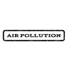 Air pollution watermark stamp vector