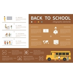 Back to school infographic flat vector