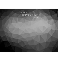 Black and white triangle shapes backgound vector image vector image