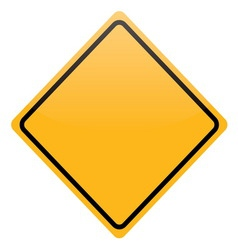 blank yellow warning sign isolated vector image vector image