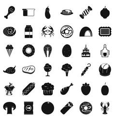 Candy icons set simle style vector