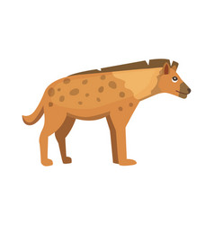 cartoon funny hyena isolated vector image vector image
