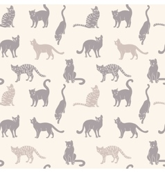 Cats seamless silhouette vector image vector image