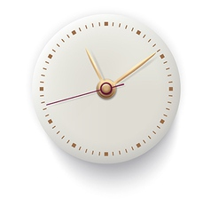 Clock on white background vector image vector image